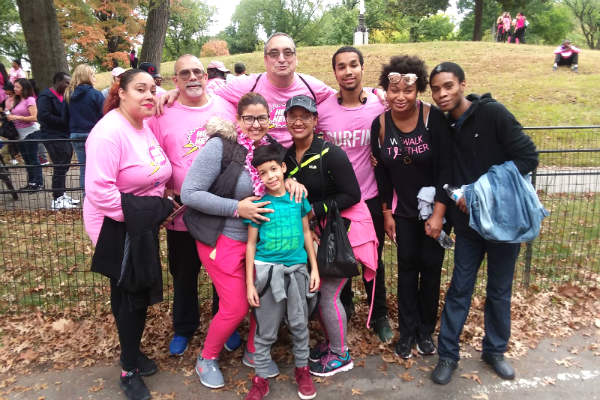 Dennelisse and LWS Homecare's Coalition of Hope in Central Park.